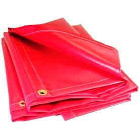 12' X 18' Red 13 oz. Flame Retardant Vinyl