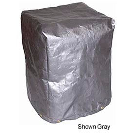 "24""L X 24""W X 36""H, 7 oz. Black 5-Sided Polyethylene Machine Cover"