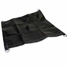 4' X 4' Black/Silver Poly Drain Tarp