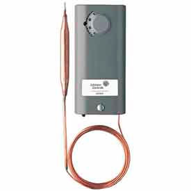 Johnson Controllers Temperature Controller A19AAF-12C Remote Bulb, SPDT, Heat & Cool