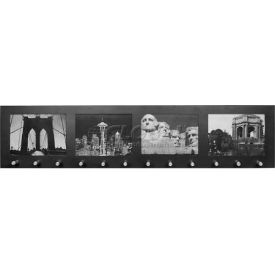 """Barska Four Section 4""""x6"""" Picture Wall Mount Frame w/12 Position Key Holder, 28""""Wx1-1/2""""Dx6-1/2""""H"""