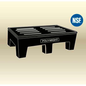"MasonWays™ 602212 HDAM PolyMight Dunnage Rack W/Anti-microbial protection 60""W x 22""D x 12""H"