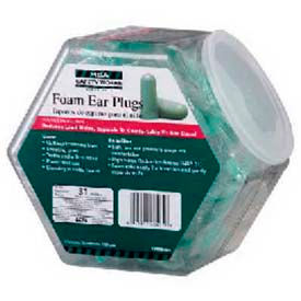 100-Pair Expandable Foam Ear Plugs In Fishbowl Counter Dispenser Package Count 3