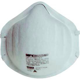 2-Pack N95 Harmful Dust Disposable Respirators Package Count 22