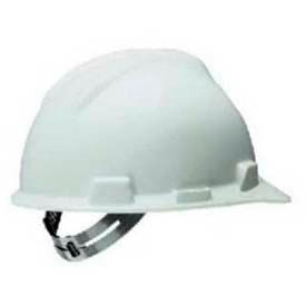 Safety Works® Adjustable Suspension Hard Hat, Pin Lock, White, SWX00344