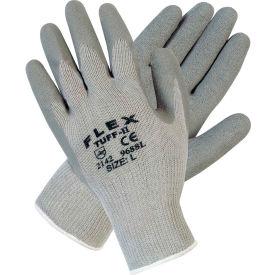 Latex Textured Palm Work Gloves, C9688M Medium, Gray - Pkg Qty 12