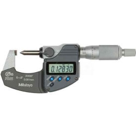 """Mitutoyo 342-371-30 Digimatic 0-.8""""/20MM Crimp Height Micrometer Data Output & Ratchet Stop Thimble"""