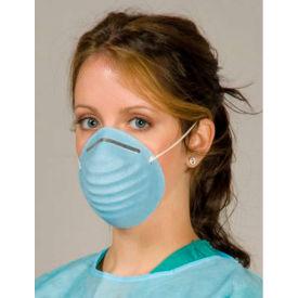 Defend® MK-1106 Breathe E-Z Valueline Molded Cone Masks, Blue, 50/Box