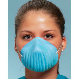 Defend® MK-1026 Form-Fit Face Mask, Blue, 50/Box