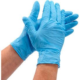 Defend® Medical/Exam Textured Nitrile Gloves, Powder-Free, Blue, XL, 100/Box, NG-2006