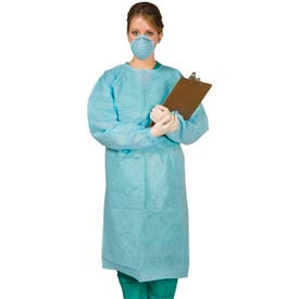 """Disposable Tie-Back Protective Gown 40""""L, 10/Pack"""