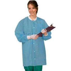 Defend Plus Disposable Lab Coat Ciel Blue, M, 10/Pkg, SG-3660CBM