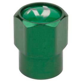 Green Anodized Aluminum Valve Cap for Nitrogen Inflated Tires