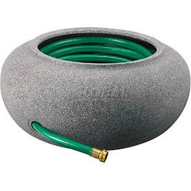 """Akro-Mils Garden Hose Pot RZ.GH210G21, 9-3/8""""H X 21"""" Dia., Black Granite"""