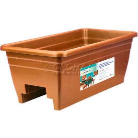 "Akro-Mils Deck Rail Box Planter SPX24DB0E24, 24""L X 12""W X 16-1/2""H, Terra Cotta"