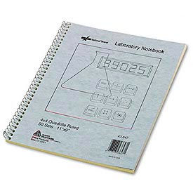 Wirebound Duplicate Lab Notebook, Quadrille Rule, 9 x 11, 100 Sheets