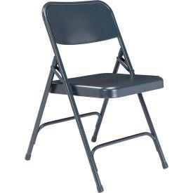 Premium All-Steel Folding Chair - Blue - Pkg Qty 4