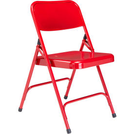 Premium All-Steel Folding Chair - Red - Pkg Qty 4