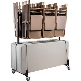 Chair and Table Cart - Double Tier - Holds 42 Chairs and 8-10 Tables