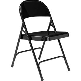 National Public Seating Steel Folding Chair - Standard - Black - Pkg Qty 4