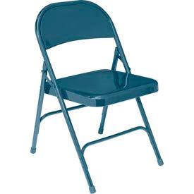 Standard All-Steel Folding Chair - Blue - Pkg Qty 4