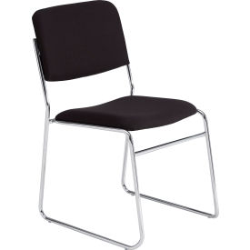 Signature Fabric Padded Stack Chair - Black - Pkg Qty 2