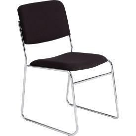 Stacking Chair - Fabric - Black - Pkg Qty 2