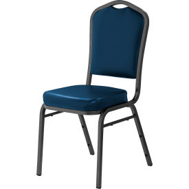 NPS Silhouette Banquet Stacking Chair - Vinyl - Midnight Blue - 9300 Series - Pkg Qty 4