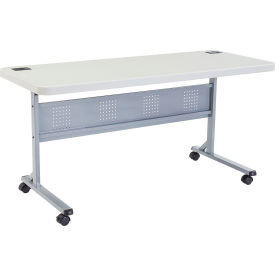 """NPS Computer Training Table - Flip Top - Blow Molded - 60"""" x 24"""""""