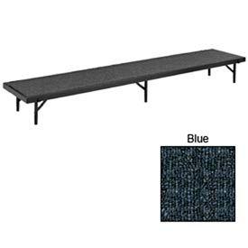 "Riser Straight with Carpet - 96""L x 18""W x 24""H - Blue"