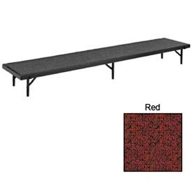 """Riser Tapered with Carpet - 72""""L x 18""""W x 24""""H - Red"""