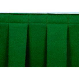 "8'L Box-Pleat Skirting for 16""H Stage - Green"