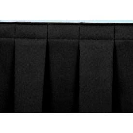 """8'L Box-Pleat Skirting for 8""""H Stage - Black"""