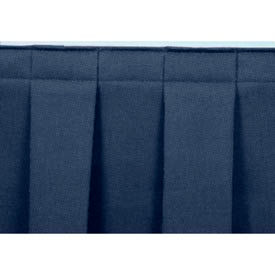 """8'L Box-Pleat Skirting for 8""""H Stage - Blue"""