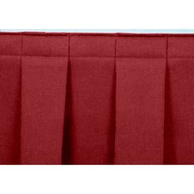 """8'L Box-Pleat Skirting for 8""""H Stage - Red"""