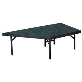 """Stage Pie Unit with Carpet for 36""""W x 16""""H Stage Units - Grey"""