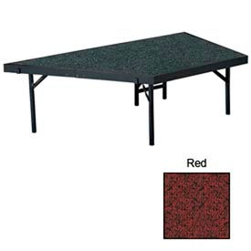 "Stage Pie Unit with Carpet for 36""W x 16""H Stage Units - Red"