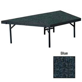 """Stage Pie Unit with Carpet for 48""""W x 16""""H Stage Units - Blue"""