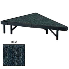 """Stage Pie Unit with Carpet for 48""""W x 8""""H Stage Units - Blue"""