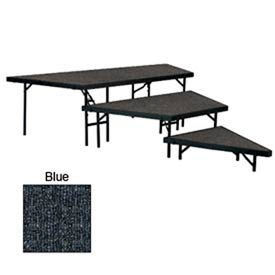 """Stage Pie Set with Carpet for 36""""W Stage Units - 8""""H, 16""""H & 24""""H - Blue"""