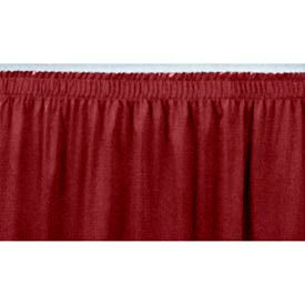 """8'L Shirred-Pleat Skirting for 24""""H Stage - Red"""