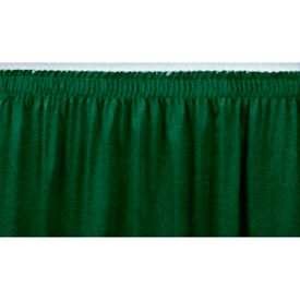 """8'L Shirred-Pleat Skirting for 32""""H Stage - Green"""