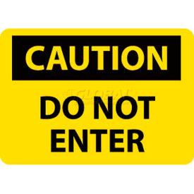"NMC C135R OSHA Sign, Caution Do Not Enter, 7"" X 10"", Yellow/Black"