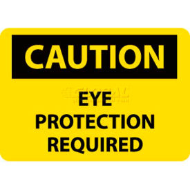 """NMC C485RB OSHA Sign, Caution Eye Protection Required, 10"""" X 14"""",..."""