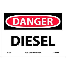 """NMC D127P OSHA Sign, Danger Diesel, 7"""" X 10"""", White/Red/Black"""