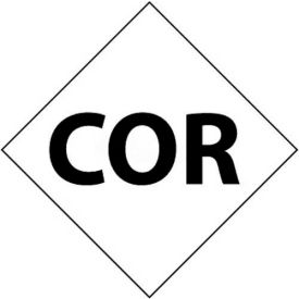 "NMC DCL146 NFPA Label Symbol, Cor, 7-1/2"" X 7-1/2"", White/Black, 5/Pk"