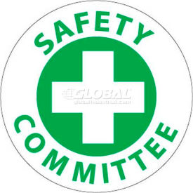 "NMC HH11 Hard Hat Emblem, Safety Committee, 2"" Dia., White/Green"
