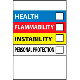 """NMC HM25 RTK Labels-Write On Color Bar / 6"""" X 4"""" / Red / Yellow / White / Blue / PSV"""