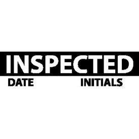 "Nmc Inl7 Inspection Label - Inspected, 1"" X 2-1/4"", Black/White, 3 Per Pack"