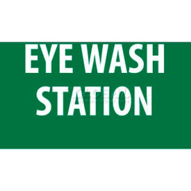 "NMC M441RB Sign, Eye Wash Station, 10"" X 14"", White/Green"